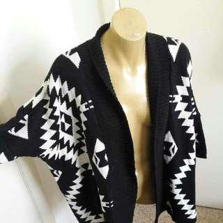 Geometric Open Cardigan