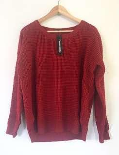 Red Knit Jumper