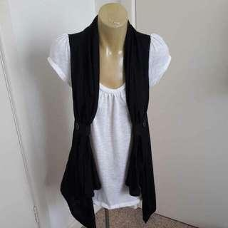 Xcepsion Shirt + Vest Combo Top Size M