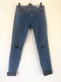 Lyla & Co Denim Blue Ripped Jeans