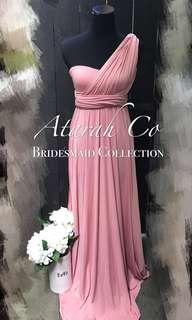 Bridesmaid Infinity Convertible Multiway Dress