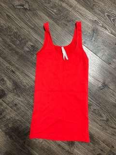 Aritzia babaton XS red tank top