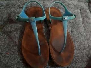 Original lacoste thong sandals size 9