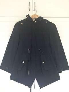 ZARA Navy Parka with Hood