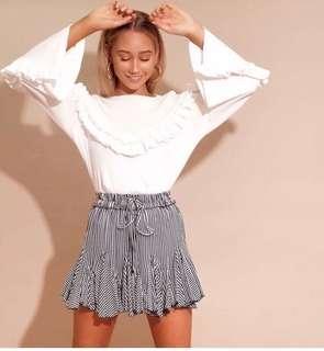 Stripe mini skirt XS
