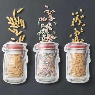 🚚 Mason Jar Reusable Ziplock Bags (Medium)