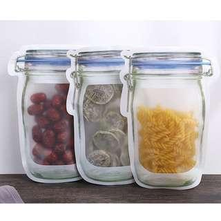 🚚 Mason Jar Reusable Ziplock Bags (Large)