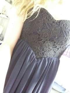 Heart neck short dotti dress