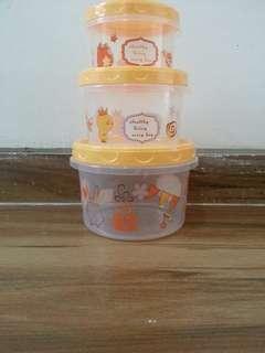 Food container isi 3 pcs / tempat makan karakter