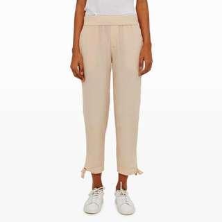 Club Monaco Silk Pants With Tie Hems Sz6
