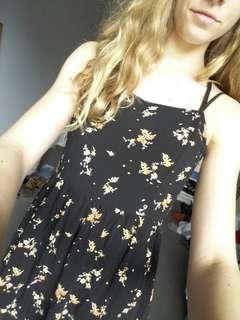 Floral black skater dress from H&M