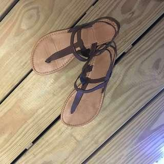 Leather sandals flats  #under90 #paywithboost #3x100