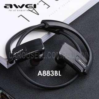 Awei A883BL Bluetooth Earphone Wireless Sports Headset