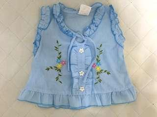 Embroidered baby dress 3 month old