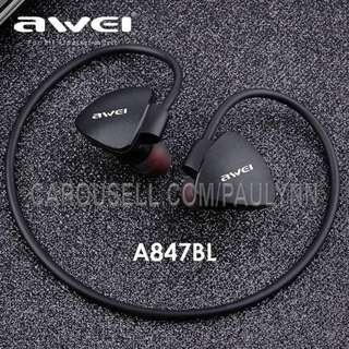Awei A847BL Bluetooth Earphone Wireless Sports Headset