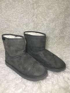 H & M Divided Grey Fur Boots Size 38 & 39