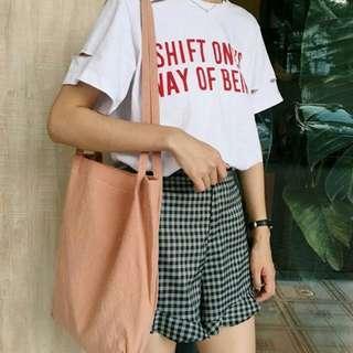 [ic] cotton tote bag / shoulder bag