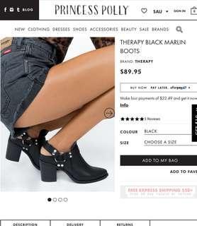 Princess Polly Black Boots