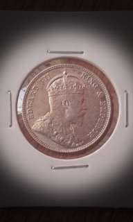 Flawless Straits 1902 Silver 20Cents