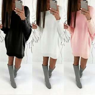 Women winter long sleever Dress