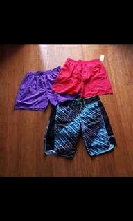 Boardshorts and athletic shorts M-L