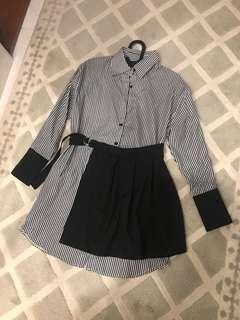 NEW dress stripes with skirt