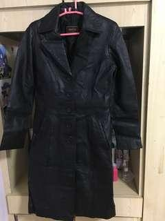 Siricco Black real leather jacket women