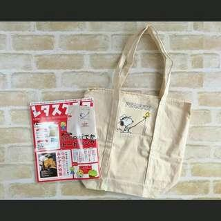 New and Authentic Peanuts Canvas Tote Bag Japan Appendix ❤