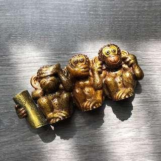 Monkey business card holder