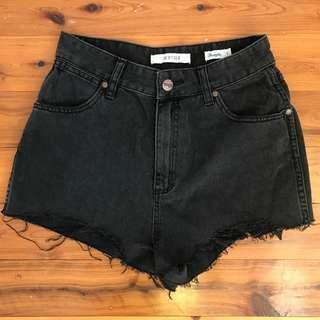 Wrangler Hi Ryder Black Shorts