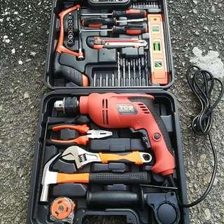 BE&H TCS All-In-One Home & Professional Electric Impact Drill Set Power Tool