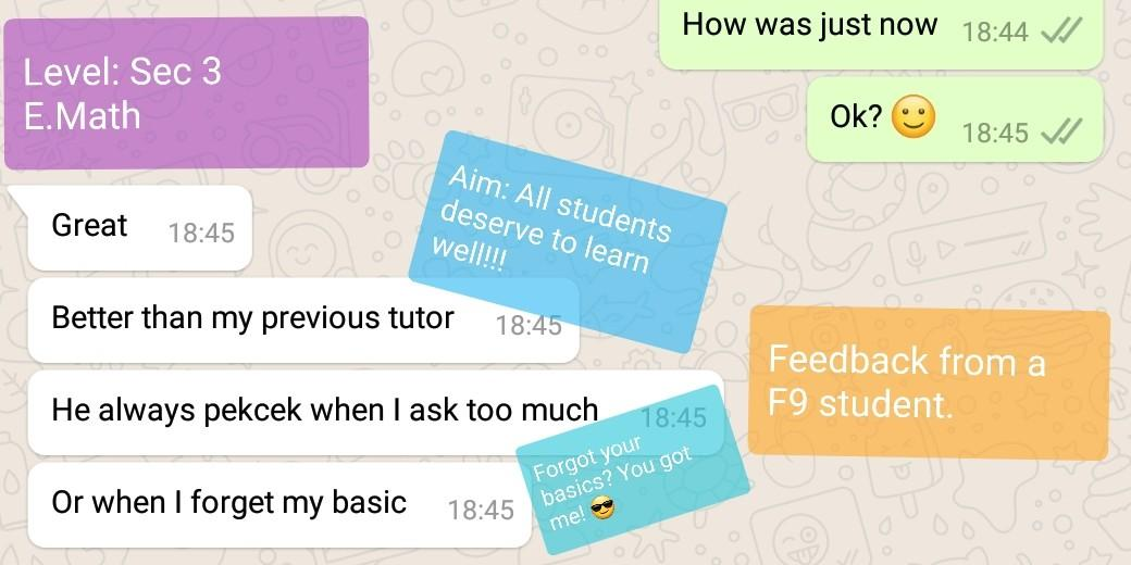 >200 LIKES!!! Math Crash Course ; Chem Crash Course ; Crash Course ; Intensive Revision ; IP Tuition ; IB Tuition ; GCSE Tuition  ; Poly Tuition ; Private Candidate Tuition ; PSLE Tuition ; O Level Tuition ; Math Tutor ; English Tutor ; Science Tutor ;