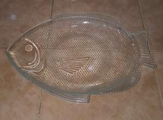 vintage oven proof fish platter plate