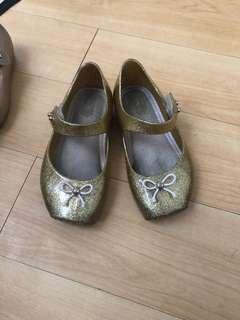 Mini Melissa Ballet shoes in gold