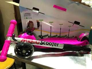Midou foldable kid scooter wheels with light