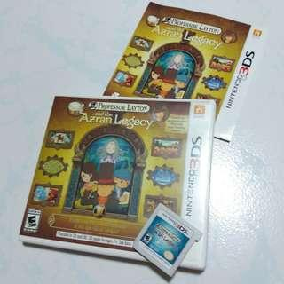 Professor layton and the azran legacy nintendo