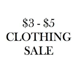 $3-$5 Clothing items!