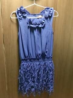 🔵2068| 藍色小禮裙👗