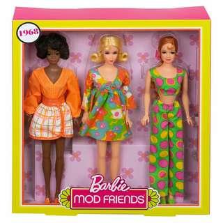 Barbie Mod Friends 1968 Reproduction Giftsets