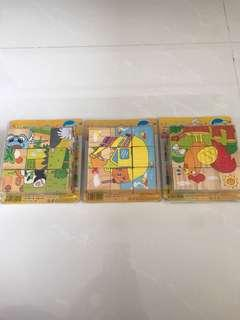 Preloved Wooden Puzzle Blocks