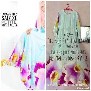 Minaz Laraa Orchid Dress Saiz XL Petite