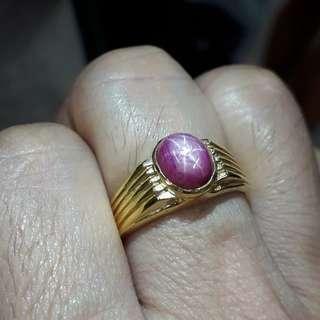 Burma ruby gold ring.good quanlity