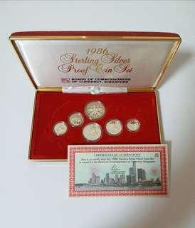 1986 Singapore Proof Coin Set