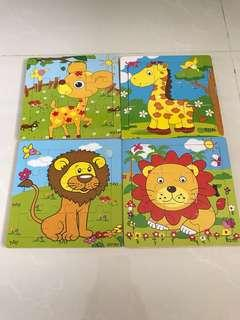 Preloved Wooden Animal Puzzle