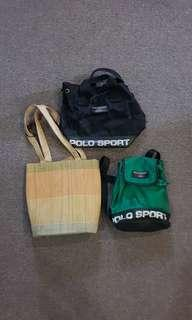 3 Bags- 2 Polo Sport Bag, 1 Native Bag