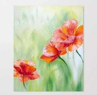 🚚 [PO] Framed Floral Art Painting