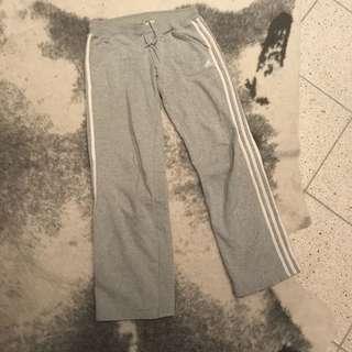 Adidas grey trackpants sz 8