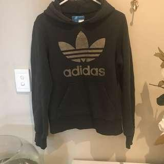 Adidas black and gold jumper sz 8