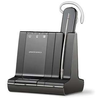 Plantronics Savi W740-M Microsoft Convertible Wireless Headset With Base Station (Black)