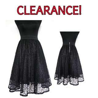 Black Midi Lace Skirt